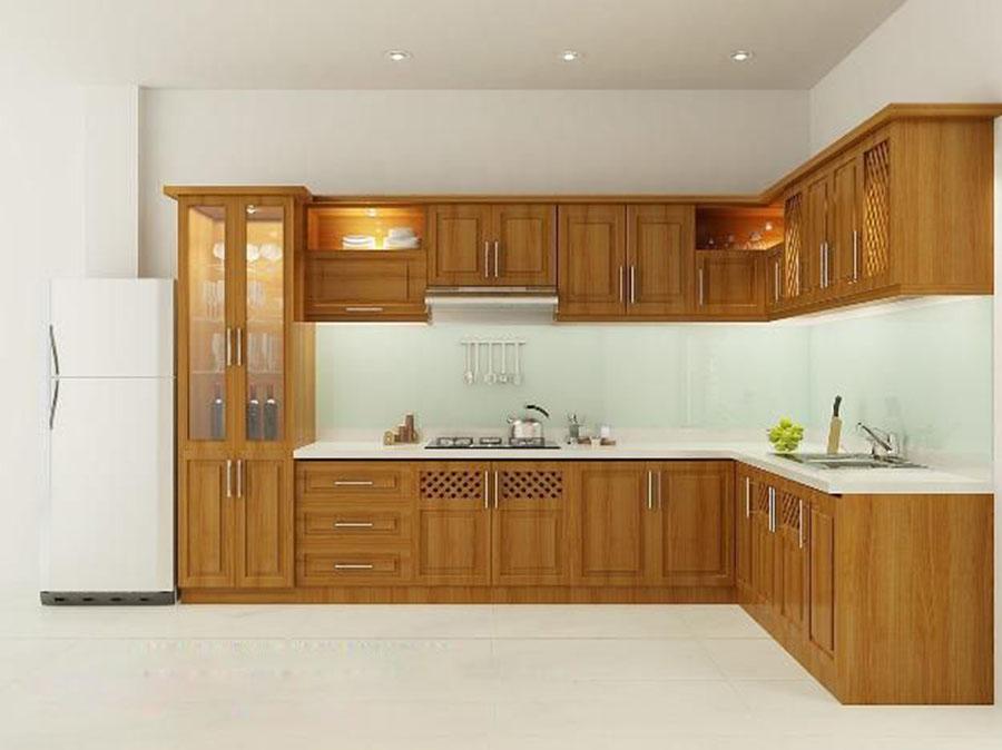 tủ bếp gỗ tự nhiên 4
