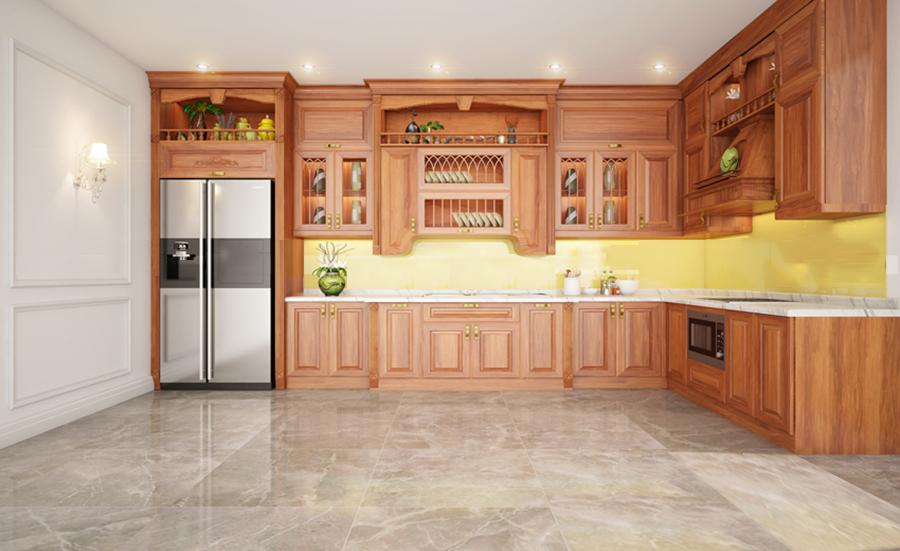 tủ bếp gỗ tự nhiên 5