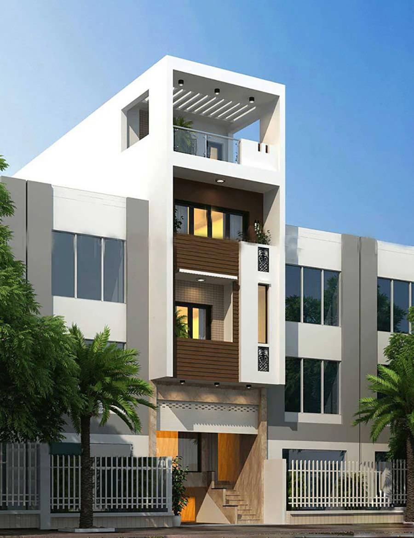 mẫu nhà phố 4 tầng 8