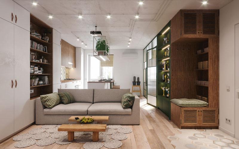 thiết kế nội thấ căn hộ 48m2