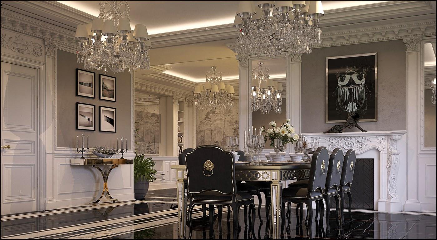 Thiết kế phòng bếp và phòng ăn nhà biệt thự