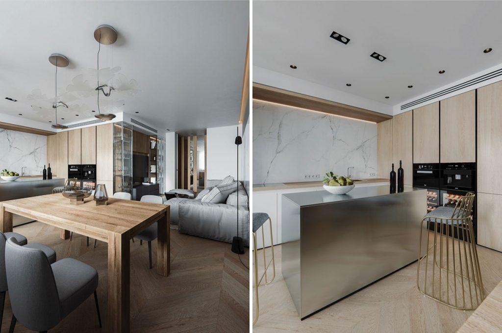 Thiết kế nội thất bếp hiện đại