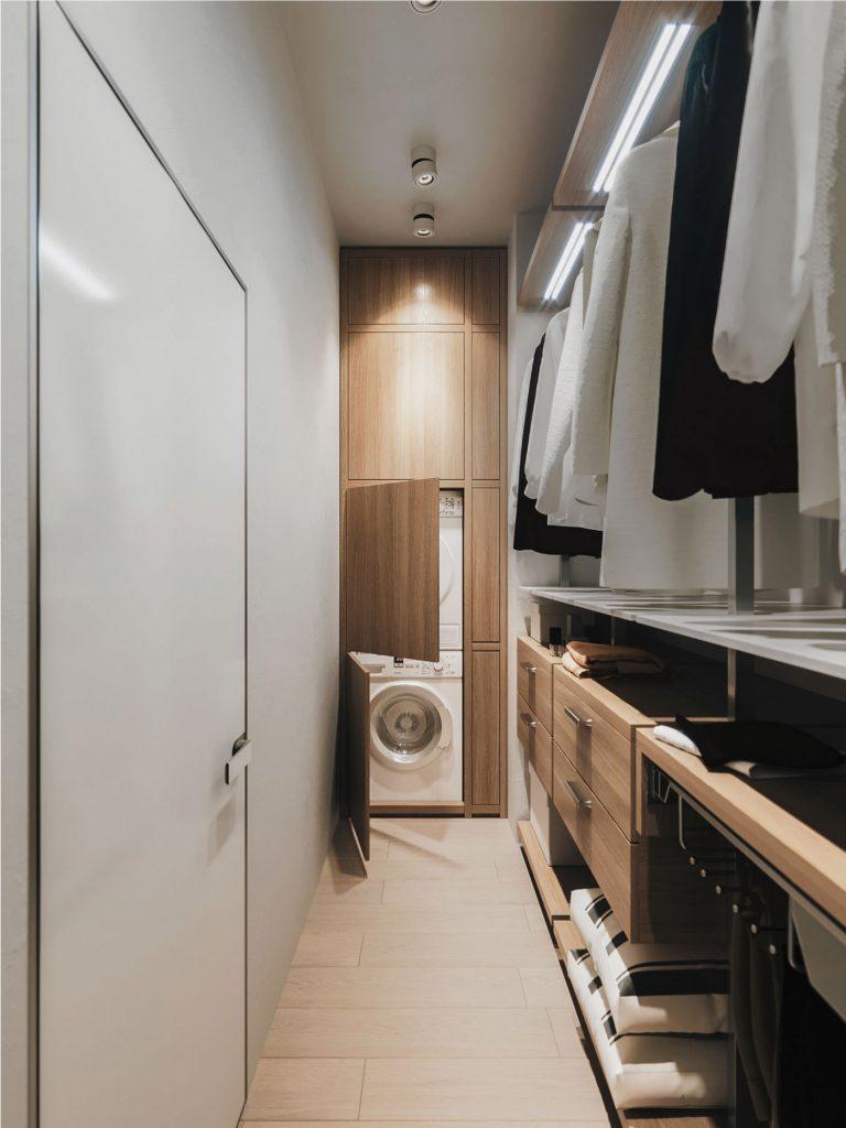 Khu vực nhà giặt và chứa đồ
