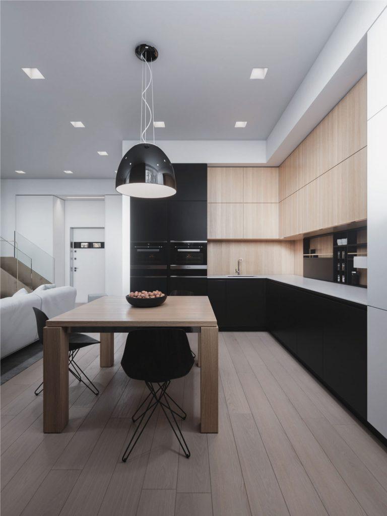 thiết kế nội thất gian bếp