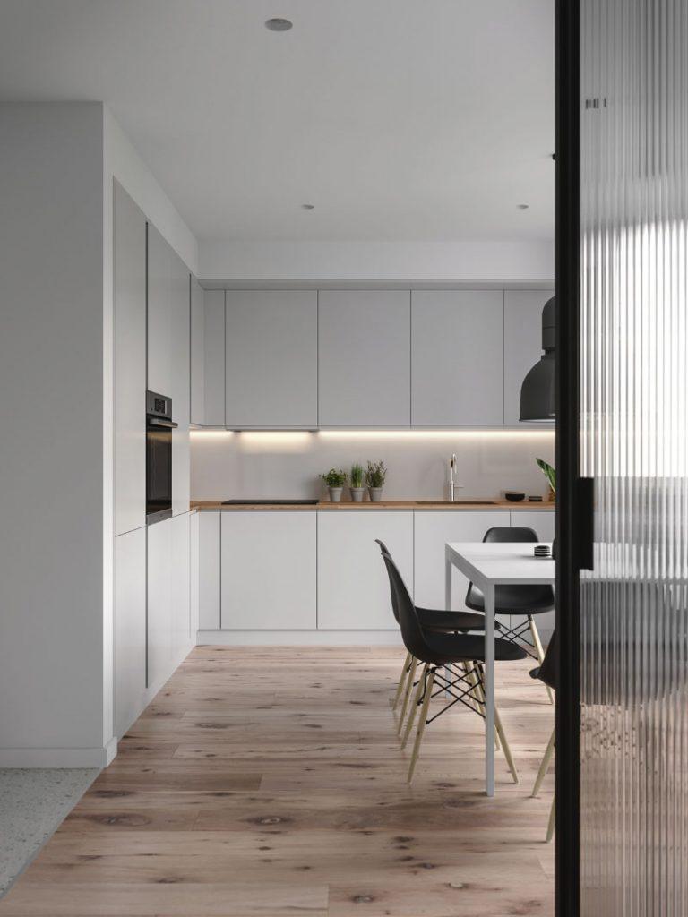 Một góc bếp căn hộ 50m2