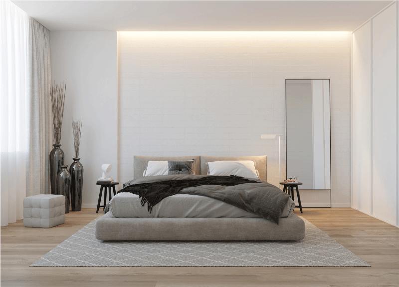 thiết kế nội thất phòng ngủ căn hộ 82m2