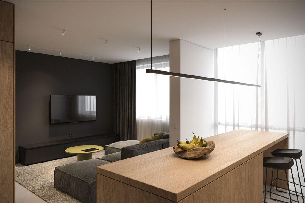 phòng khách và bếp