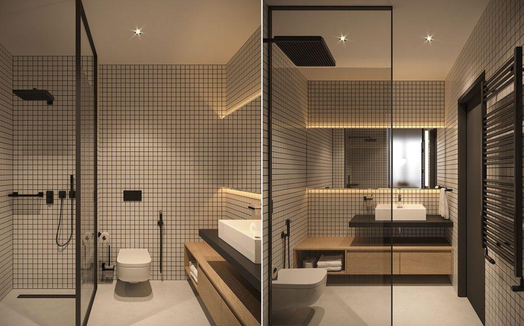 thiết kế nhà vệ sinh cho căn hộ nhỏ