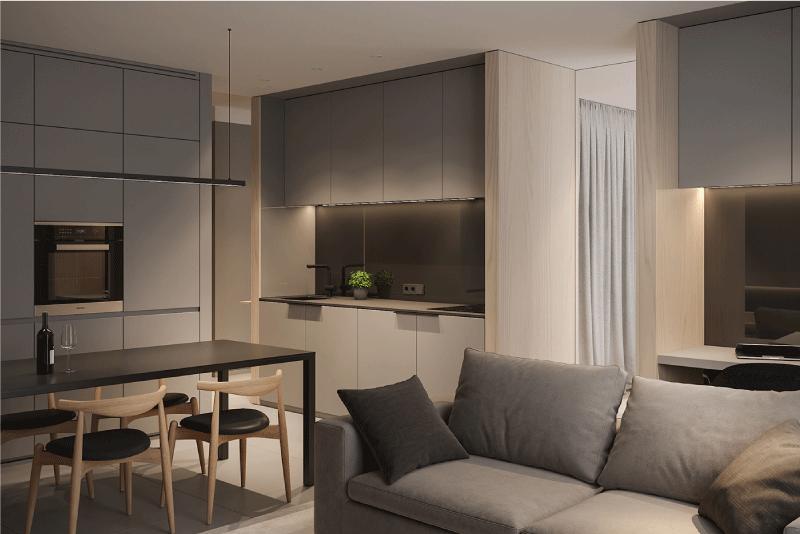 mẫu thiết kế nội thất căn hộ studio
