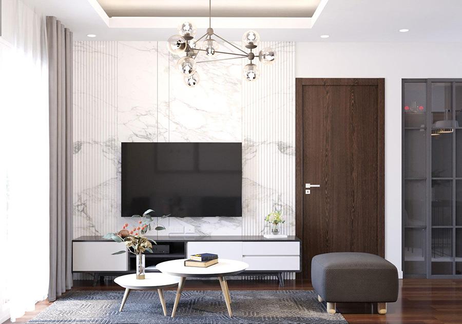 Thiết kế nội thất căn hộ 50 m2 2 phòng ngủ 02