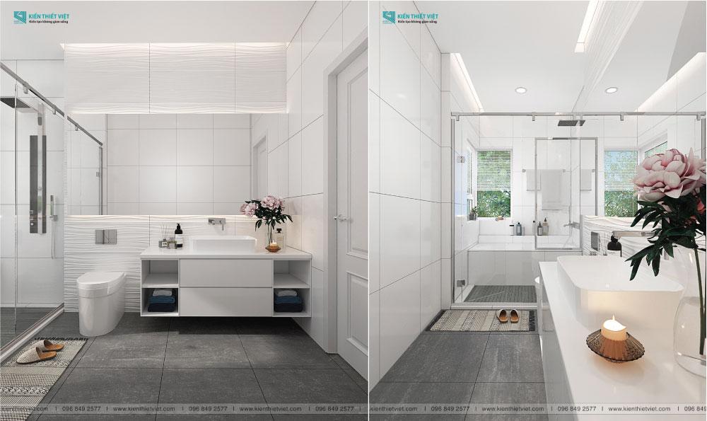 mẫu nhà vệ sinh màu trắng
