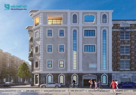 thiết kế nhà phố tân cổ điển 5 tầng tại hcm