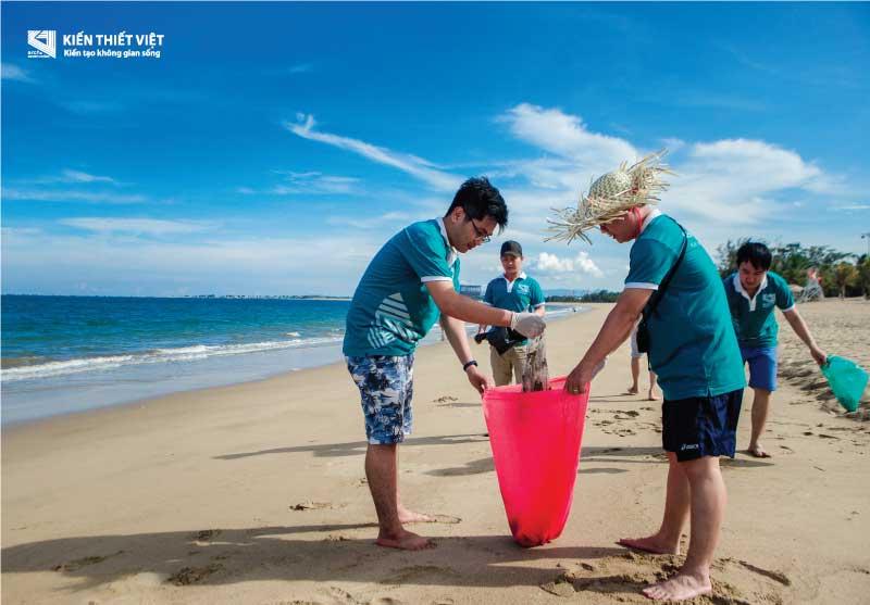 dọn rác biển bảo vệ môi trường