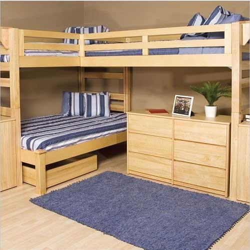 giường tầng và không gian học tập