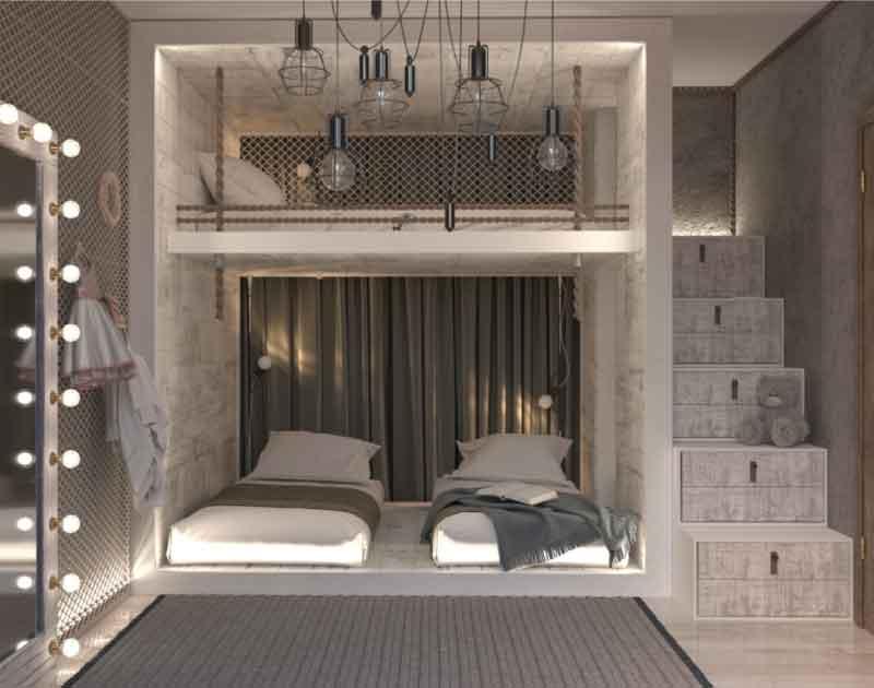 không gian giường tầng thật chill