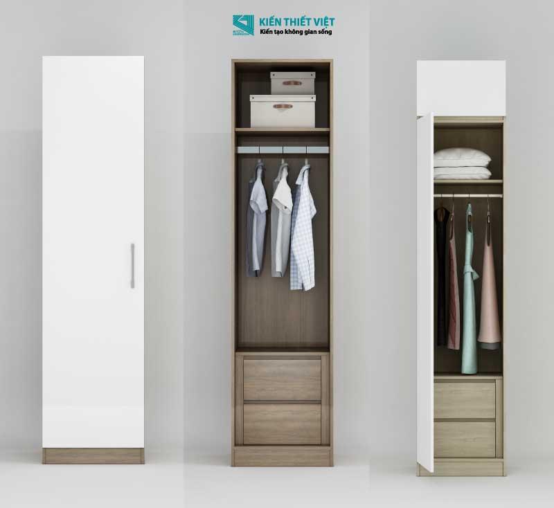 mẫu tủ quần áo 1 cửa