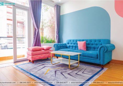 phòng khách color block