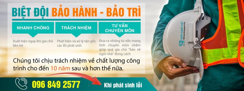 Chính sách bảo hành khi xây nhà trọn gói tại Kiết Thiết Việt