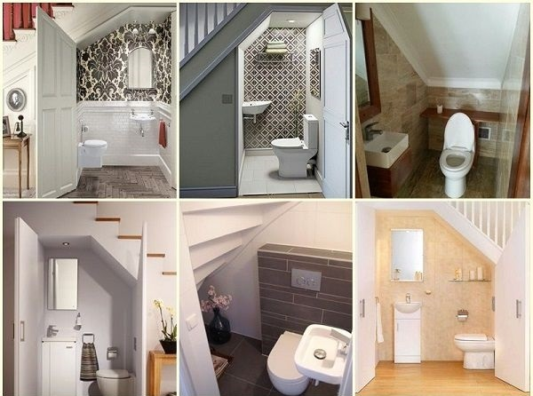 mẫu nhà vệ sinh dưới gầm cầu thang