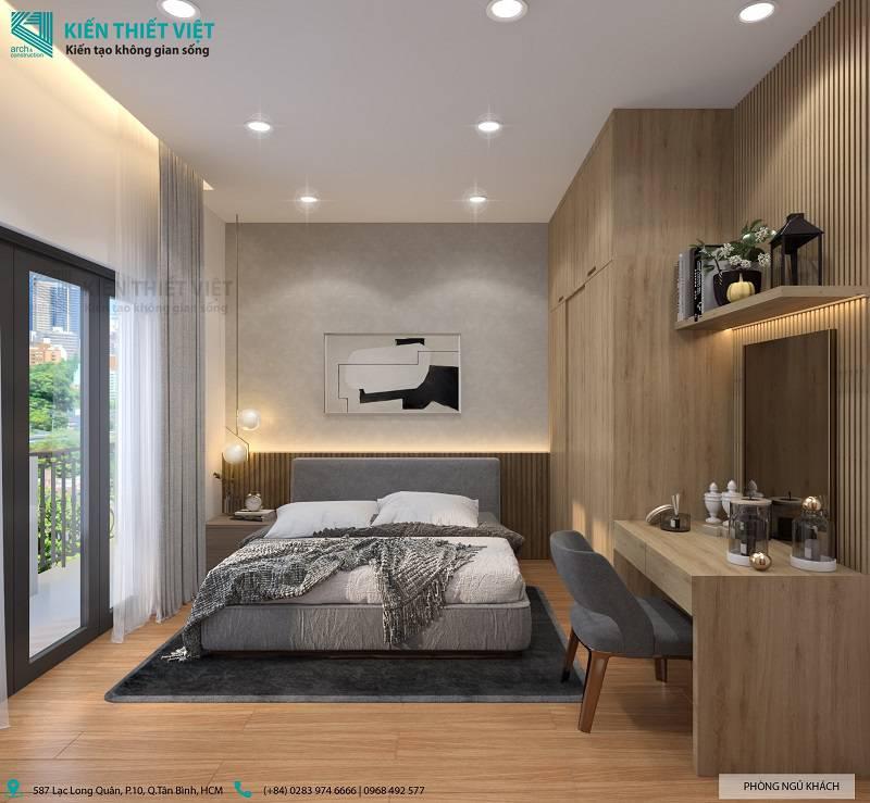 Phòng ngủ cho khách nhà anh quang