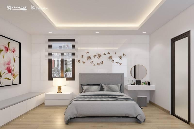 thiết kế phòng ngủ số 2 nhà chị hiền củ chi