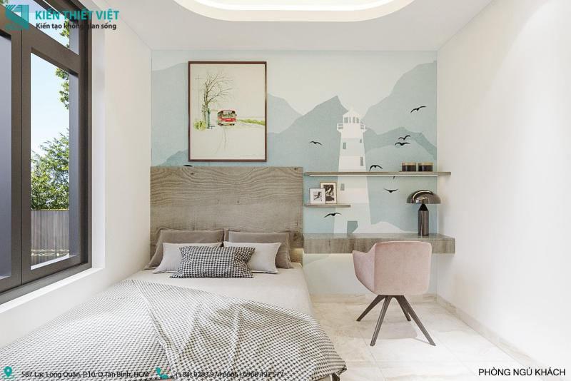 Phòng ngủ cho khách nhà anh thiện
