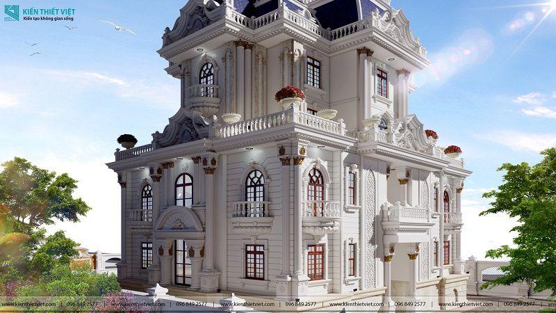 Thiết kế biệt thự cổ điển châu âu