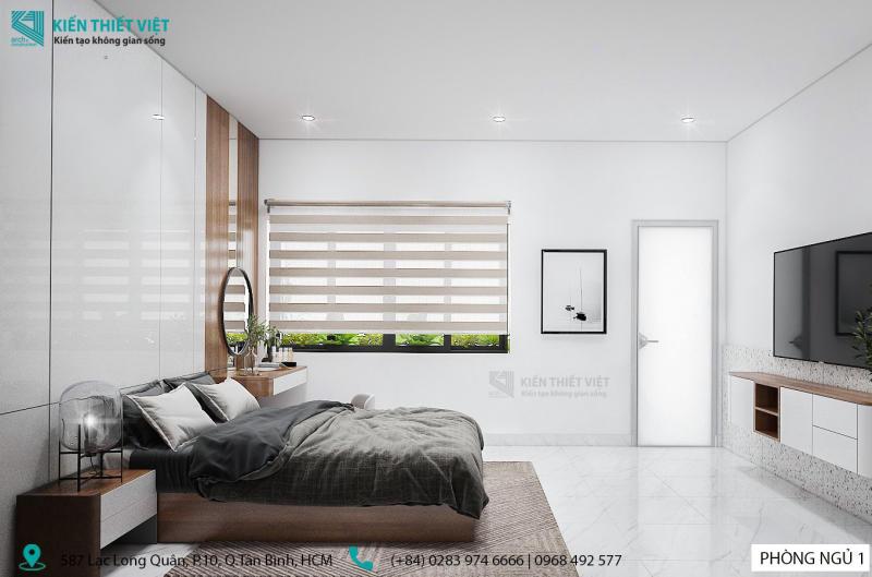 thiết kế phòng ngủ số 1 nhà anh dũng