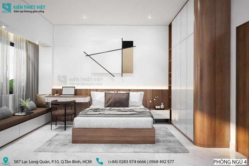 thiết kế phòng ngủ số 4 nhà anh dũng