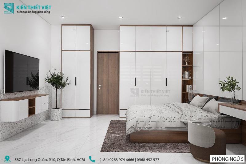 thiết kế phòng ngủ số 5 nhà anh dũng